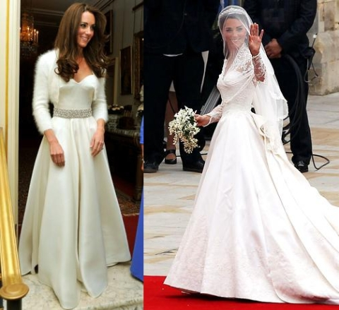 Kate Middleton Evening Gown vs. Kate Middleton Wedding Dress